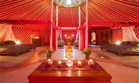 A luxury yurt at Finca de Arrieta, Lanzarote