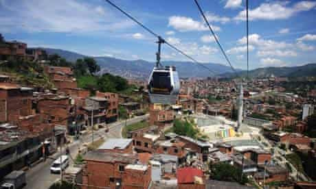 cable car over Medellin