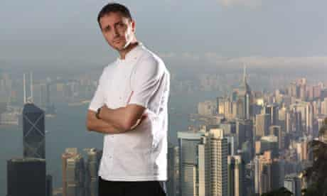 Jason Atherton on the Peak overlooking Hong Kong