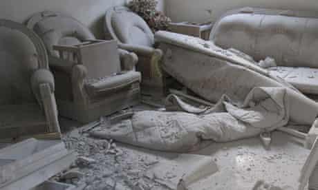 Assad  rocket attack Homs