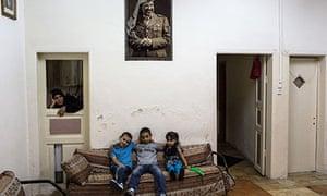 A Muslim family living in Jerusalem