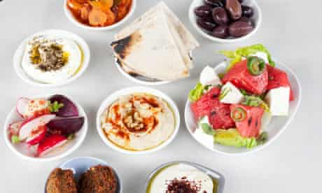 Nine dishes of mezze at Honey and Co