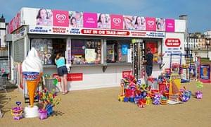 Ice-cream stall on beach, Great Yarmouth