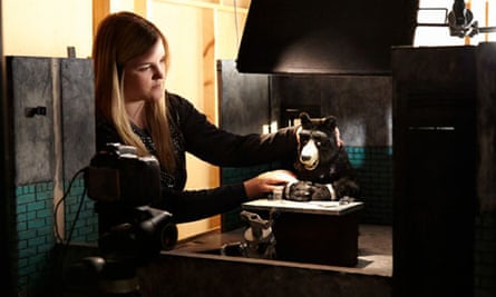 Rebecca Archer works on her animated film