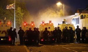 Belfast riot police