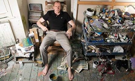 David Dawson in his studio