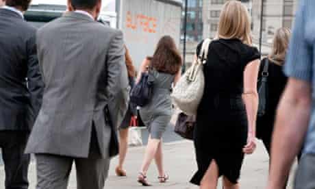 men women commuters