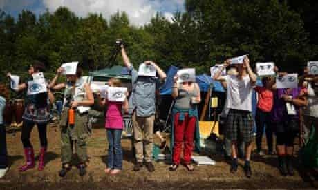 Anti-fracking protest in Balcombe