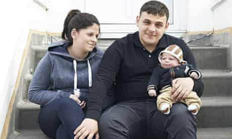 Ali Hakeem Lahrech, 18, with girlfriend and baby