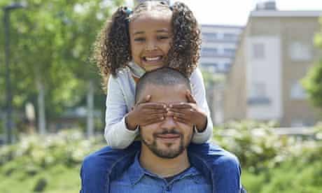 Christopher Ferguson, 25, with his daughter Soraya, 5