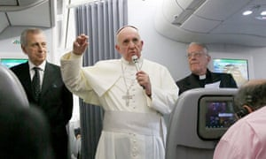 Pope Francis press conference aboard his flight back to Rome, Brazil - 28 Jul 2013