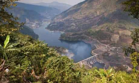 The Ranganadi Hydro Electric Project in Arunachal Pradesh, India.