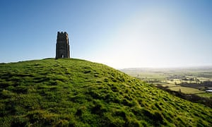 Glastonbury Tor at sunrise