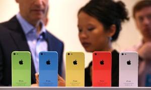 5c iPhones