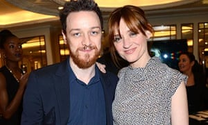 James McAvoy with his wife Anne-Marie Duff