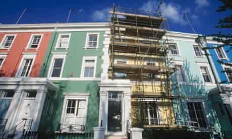 Scaffolding in Notting Hill, London