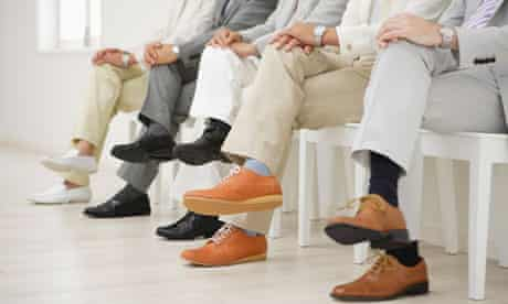 men crossed legs