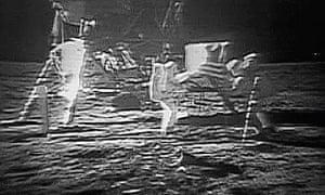 Apollo 11 astronauts land on the moon, 1969