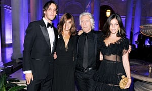 Carine Roitfeld with her family