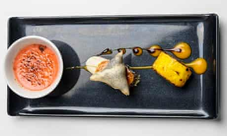 Purple Poppadom's mixed dessert plate