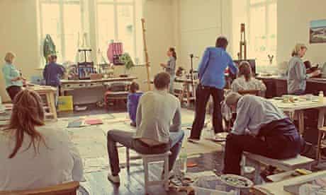 Newlyn Art School studio