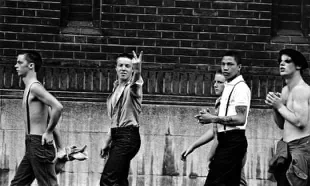 A gang of skinheads