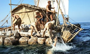 A rescue at sea in an impressive Norwegian dramatisation of Thor Heyerdahl's epic journey.