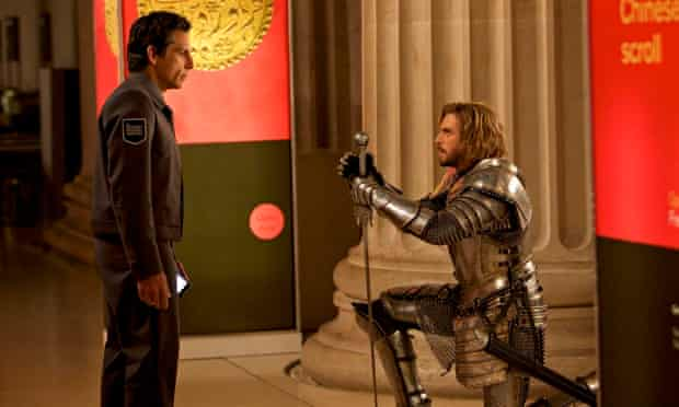 Only Dan Stevens, pictured as Lancelot with Ben Stiller, seems to enjoys himself in Night At The Mus