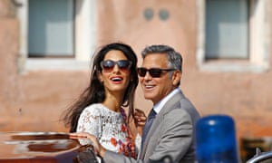 U.S. actor Clooney and his wife Alamuddin