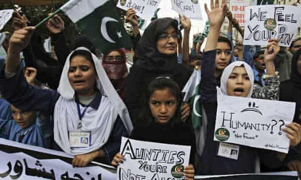 Peshawar massacre demonstration