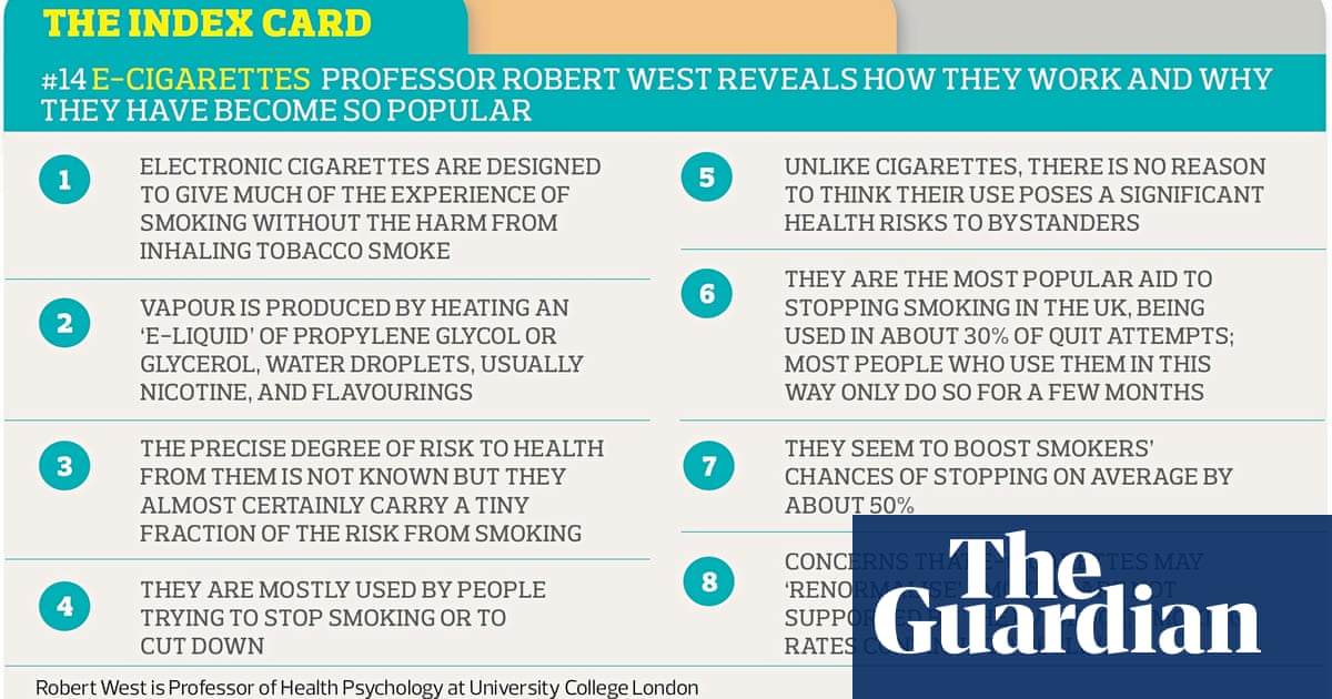 The index card: e-cigarettes | Science | The Guardian