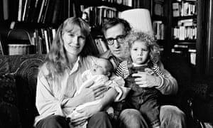 Mia Farrow, Woody Allen, and children