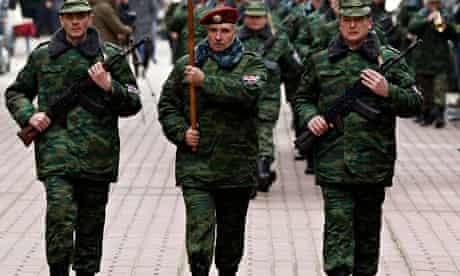 Pro-Russian self defence unit in Crimea