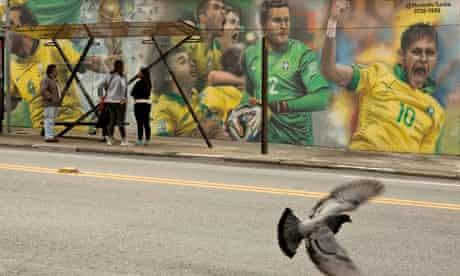 Mural of Brazilian football players