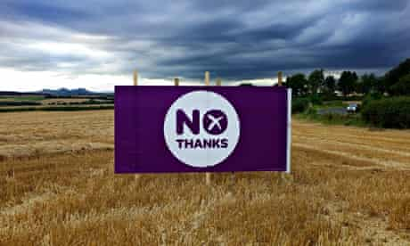 After the battle: one of thousands of billboards across the countryside, here near Heiton village, K