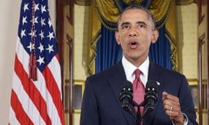 Barack Obama announces air strikes against 'Isil' earlier this month.