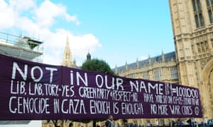 Anti War Protest In Westminster, England