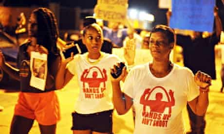 Michael Brown shooting protesters