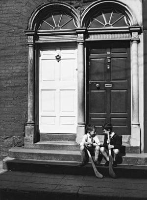 'Serving human activity': Two boys on doorstep, Kilkenny, Ireland, 1965.