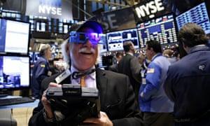 Wall Street celebrates the new year last week.