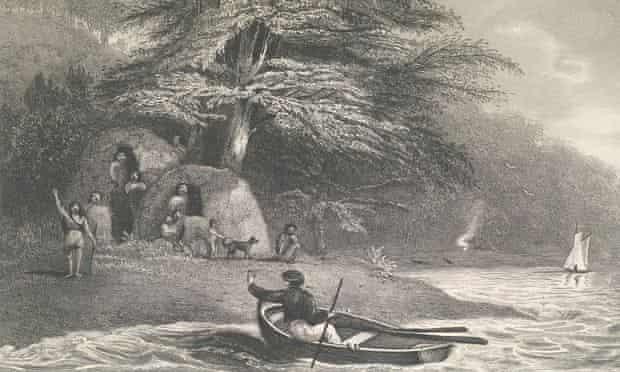 Fuegian tribespeople