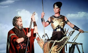 'Startling': Charlton Heston and Yul Brynner in  the 1956 epic, The Ten Commandments.