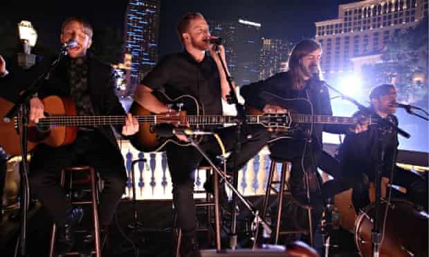 Far from 'weird': Imagine Dragons perform in Las Vegas.
