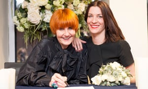 Mary Portas and Melanie Rickey convert their civil partnership into a marriage at Westminster City H