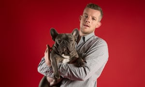 Bulked up: Russell Tovey and his bulldog Rocky, photographed in north London last month.