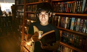 Internet activist Aaron Swartz in a San Francisco bookshop in 2008, five years before his suicide.