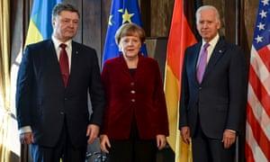 Poroshenko, Merkel Biden