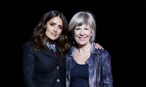 Actor Salma Hayak (left) with Jude Kelly in London on International Women's Day this month.