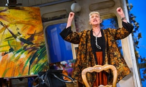 'Entertaining': Marty Cruickshank as Virgie, the artist with a death wish in After Electra.