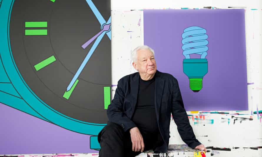 'Inspiring': Michael Craig-Martin,  photographed by Karen Robinson for the Observer New Review in hi